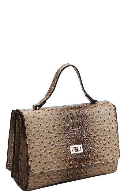 FASHION CROCO PATTERN SATCHEL  - orangeshine.com