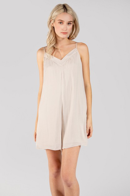 Strappy Pull On Style Romper - orangeshine.com