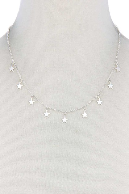 STAR DANGLE METAL NECKLACE - orangeshine.com