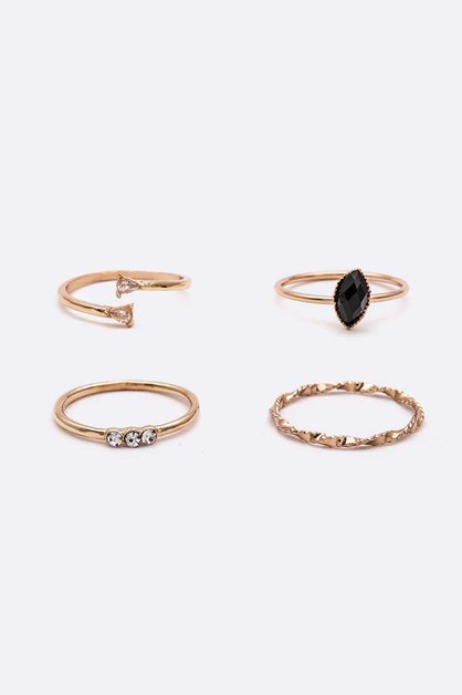 Dainty Mix Ring Set - orangeshine.com