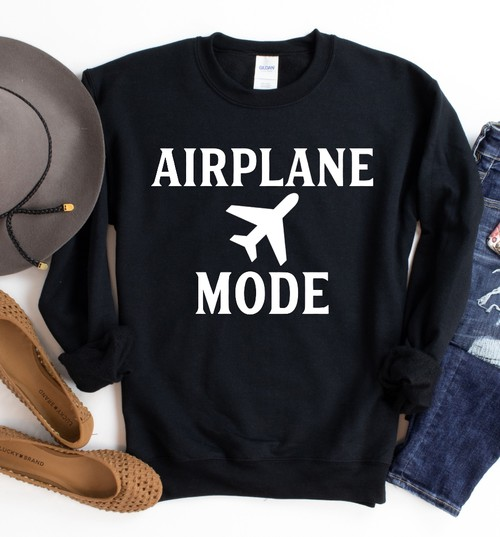 Airplane Mode Sweatshirt - orangeshine.com