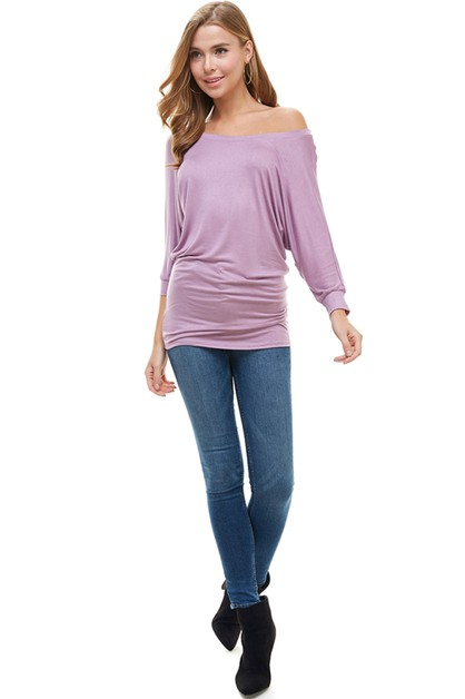 Mid Sleeve Dolman Tunic Top - orangeshine.com