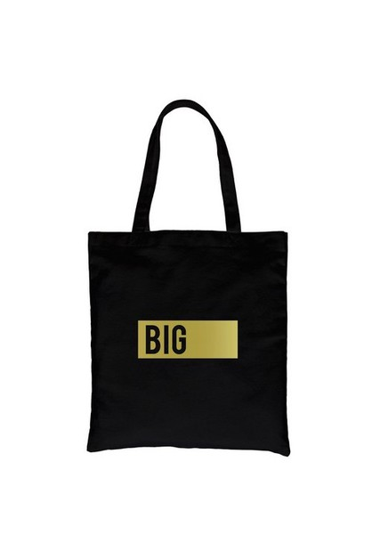 Big Boxed Gold Vinyl Canvas Bag - orangeshine.com