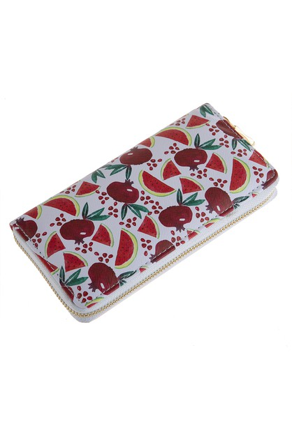FRUITS PRINTED ZIPPER WALLET - orangeshine.com