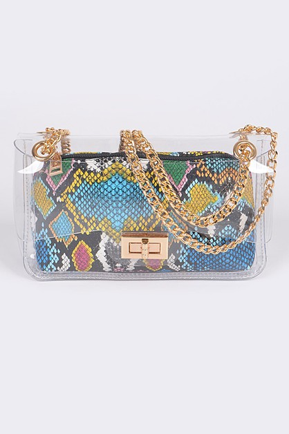 Multicolor Melt Clutch - orangeshine.com