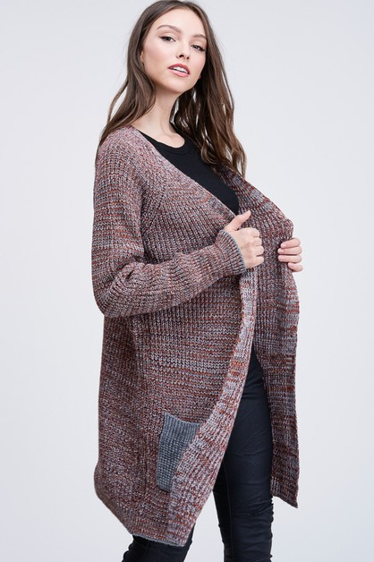 MULTI COLOR LONG SLEEVE CARDIGAN - orangeshine.com