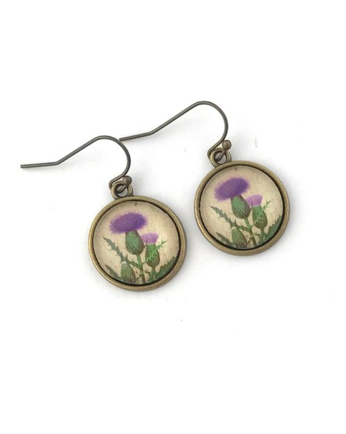 Scottish Thistle Earrings - orangeshine.com