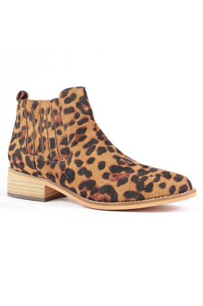 LEOPARD BLOCK HEEL BOOTS FOR WOMEN - orangeshine.com