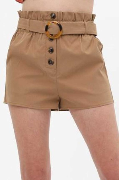 RING BUCKLE BELT SHORTS - orangeshine.com