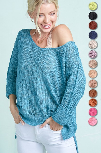 Very Soft Fine Luxe Sweater Top  - orangeshine.com
