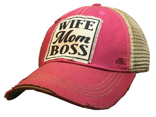 Wife Mom Boss Hat Trucker Cap - orangeshine.com