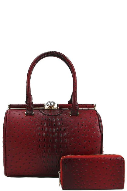 CROCO PATTERN STRUCTURED DOCTOR BAG - orangeshine.com