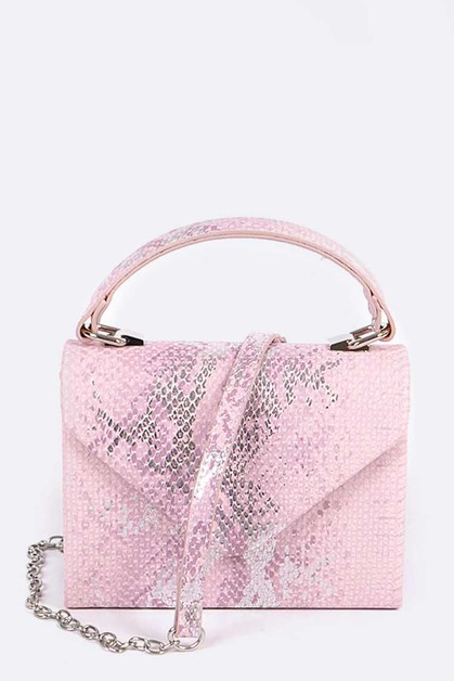 Snake Print Crossbody Swing Bag - orangeshine.com