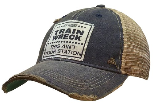 Hey There Train Wreck Trucker Cap - orangeshine.com