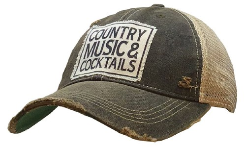 Country Music and Cocktails Trucker - orangeshine.com