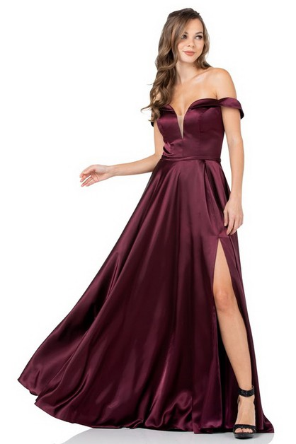 Off Shoulder Long Evening Dress - orangeshine.com