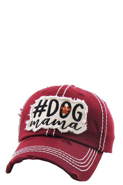 DOG MAMA Washed Vintage Ballcap - orangeshine.com