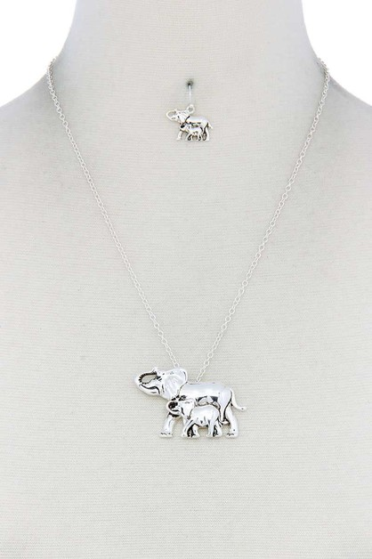 ELEPHANT PENDANT NECKLACE - orangeshine.com