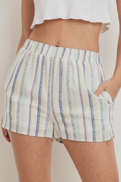 Stripe Printed Woven Short Pants - orangeshine.com
