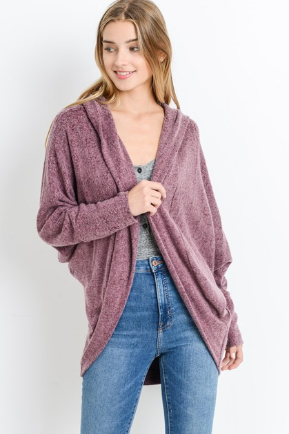 Brushed Hacci Cocoon Cardigan - orangeshine.com