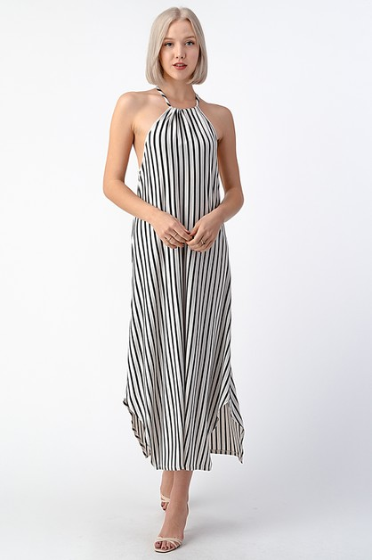 HIGH NECK MAXI DRESS - orangeshine.com