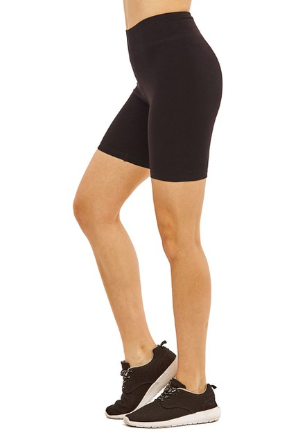 Cotton spandex basic shorts - orangeshine.com