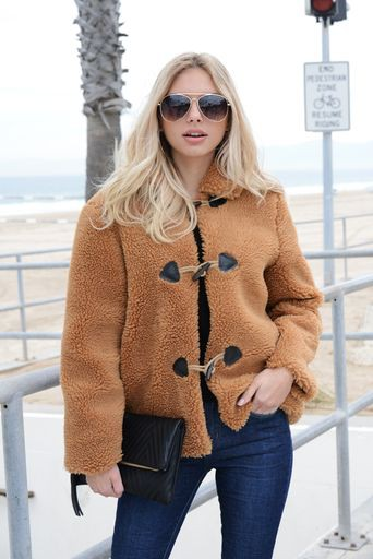 TEDDY SHEEP COAT WITH POCKETS - orangeshine.com