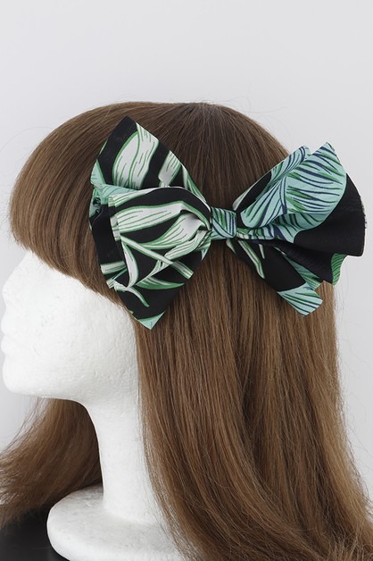 Tropical Print Ribbon Hairpin - orangeshine.com