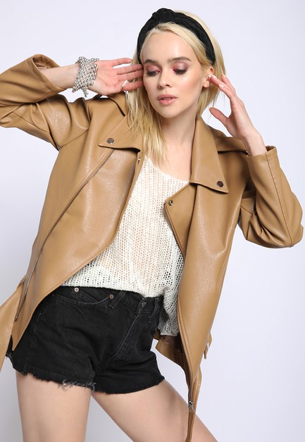 OVERSIZED MOTO JACKET - orangeshine.com