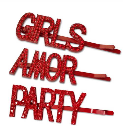 GIRLS AMOR PARTY Crystal Hair Pin - orangeshine.com
