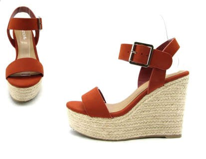 ESPADRILLES WEDGE HEEL METAL BUCKLE - orangeshine.com