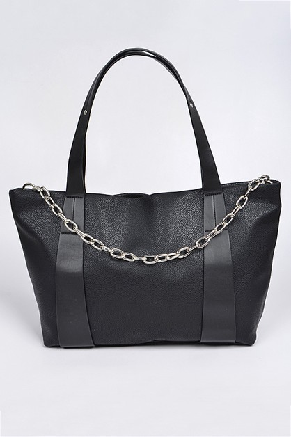 Monotone Leather Shoulder Bag - orangeshine.com