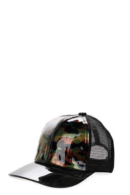 SEMI TRANSPARENT VISOR CAP - orangeshine.com