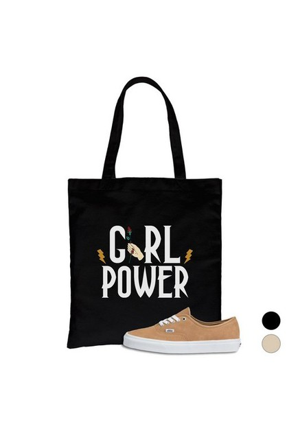 Girl Power Lightning Canvas Bag - orangeshine.com