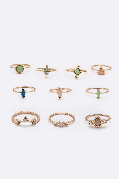 10 PC Iconic Ring Set - orangeshine.com