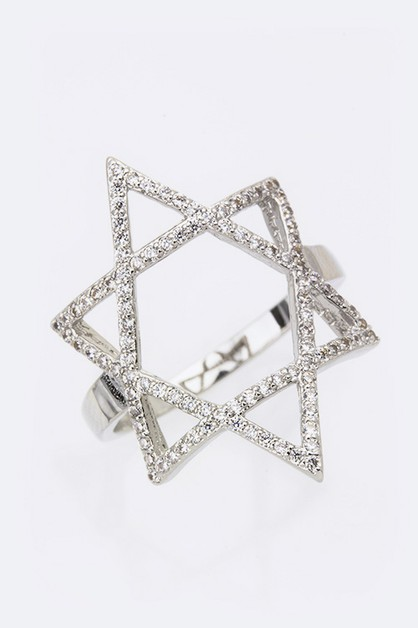 Cubic Zirconia Star Of David Fashion - orangeshine.com