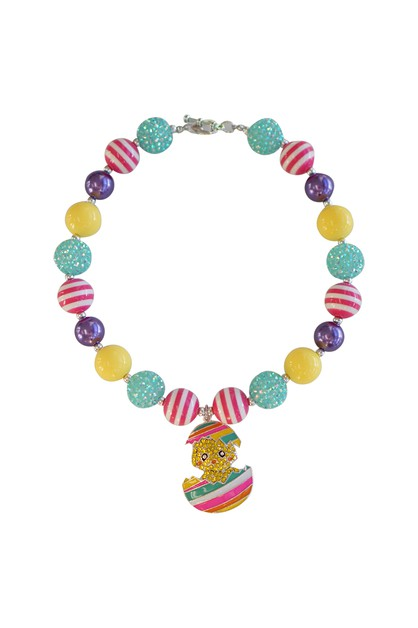 Easter bunny beads bubble necklace - orangeshine.com