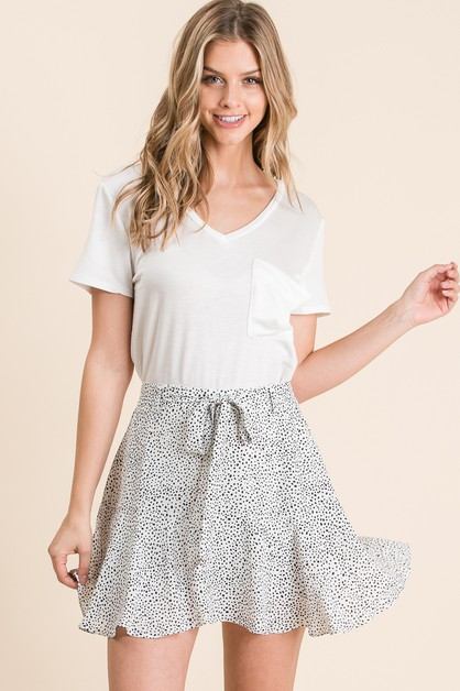 SMALL DOTS PRINT SKORT - orangeshine.com