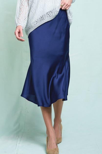 Smooth A-Line Skirt - orangeshine.com