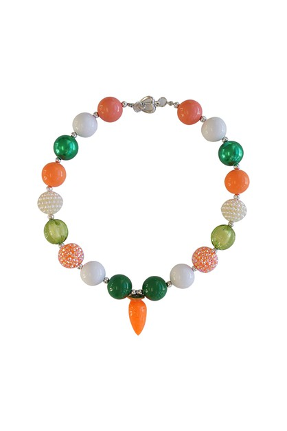 Easter carrot beads bubble necklace - orangeshine.com