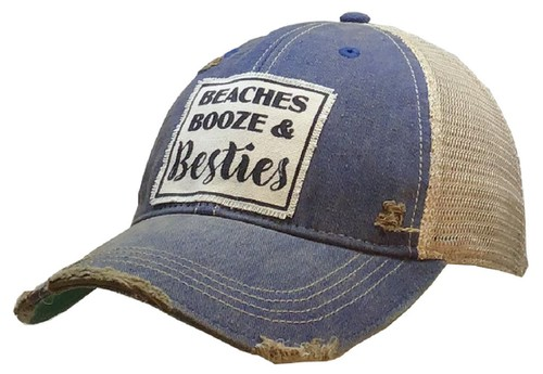 Beaches Booze and Besties Trucker - orangeshine.com