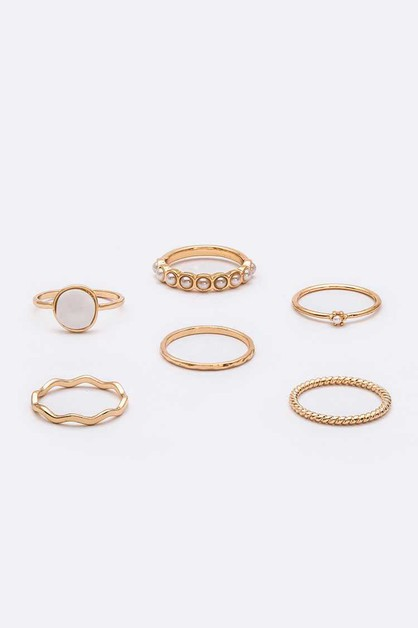 6 PC Mix Iconic Ring Set - orangeshine.com