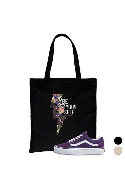 Be Yourself Canvas Bag - orangeshine.com