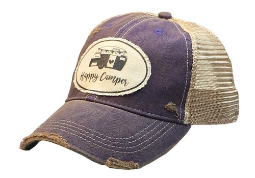 Happy Camper Trucker Hat - orangeshine.com