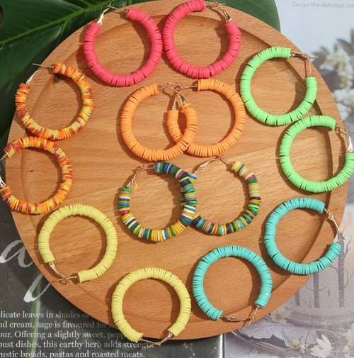 Neon Color Hoop Earring - orangeshine.com
