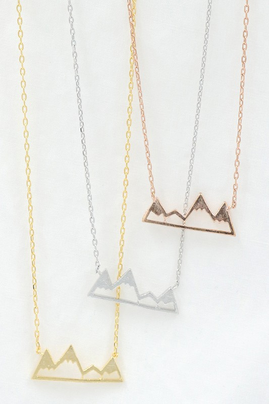 Mountain pendant brass necklace - orangeshine.com