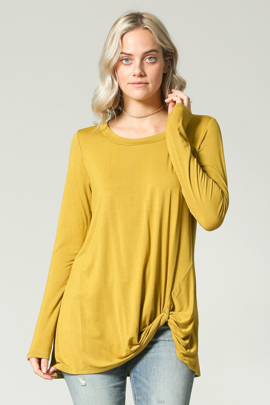 LOOSE FIT LONG SLEEVES LONG TUNIC - orangeshine.com
