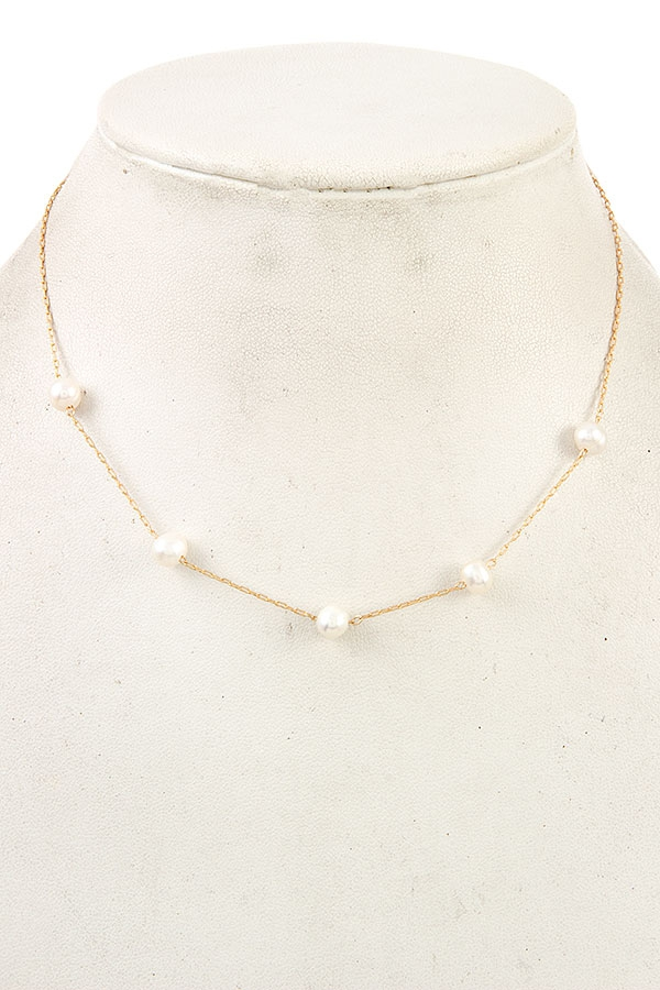 WATERPEARL STATON COLLAR NECKLACE  - orangeshine.com