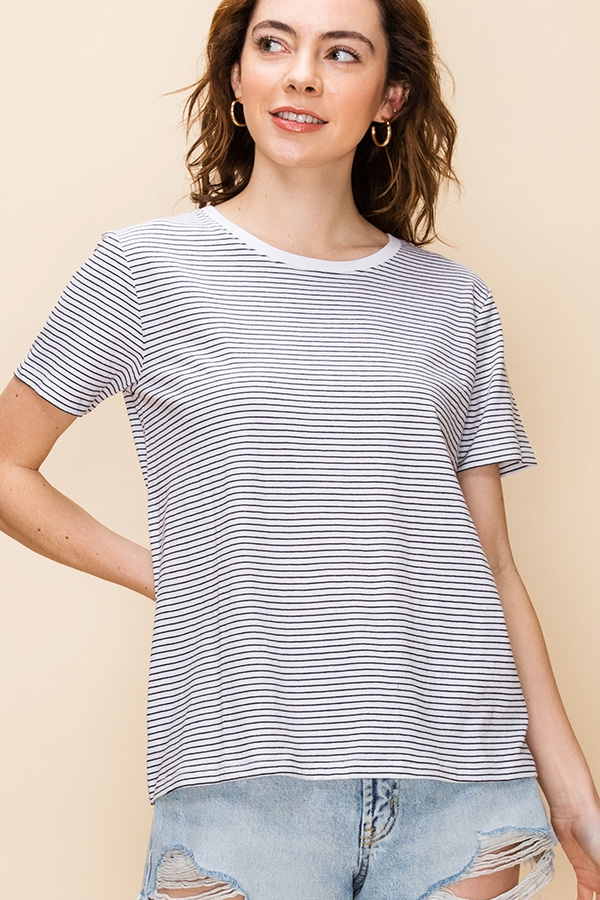 SHORT SLEEVE STRIPED T SHIRTS - orangeshine.com