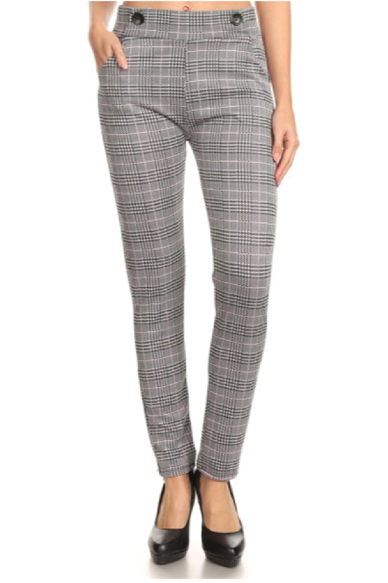 Plaid fashion pants  - orangeshine.com